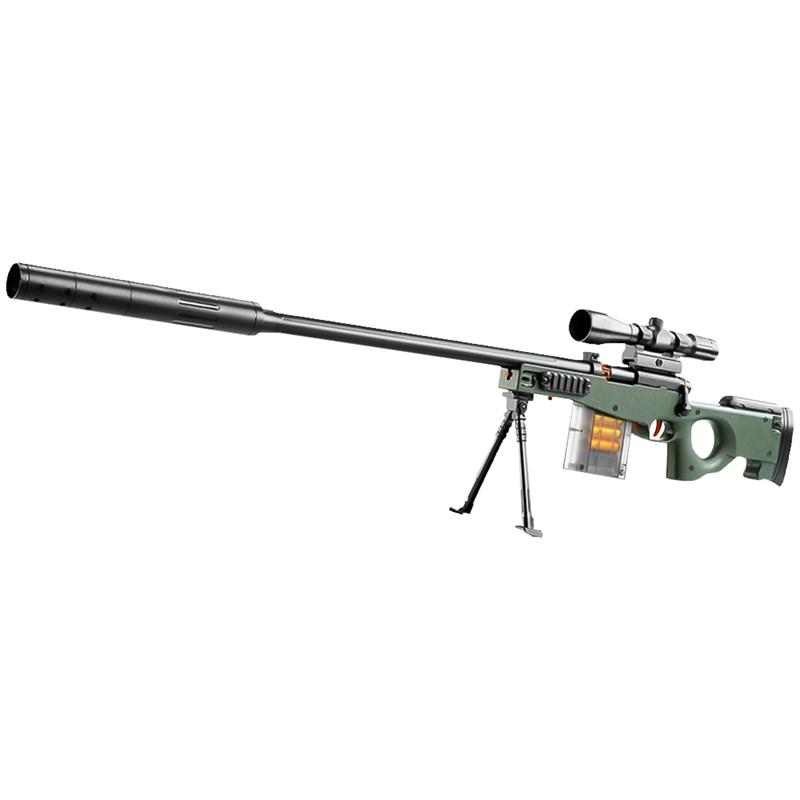 FJ 超仿真模擬槍戰安全軟彈槍 AWM 綠色
