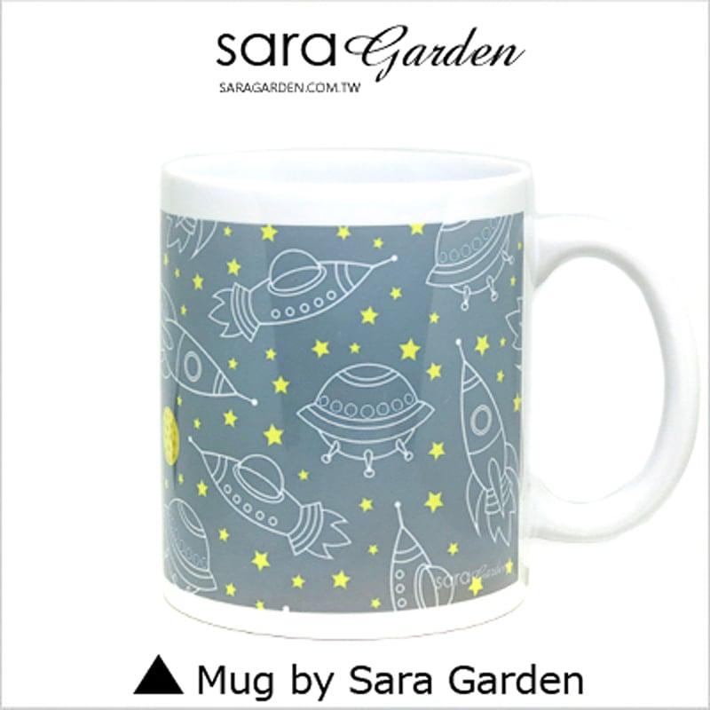 【Sara Garden】客製 手作 彩繪 馬克杯 Mug 手繪 幽浮 星球 月亮 咖啡杯 陶瓷杯 杯子 杯具 牛奶杯 茶杯