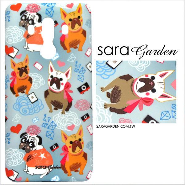 【Sara Garden】客製化 手機殼 ASUS 華碩 Zenfone2 laser 5吋 ZE500KL 保護殼 手繪鬥牛犬狗狗