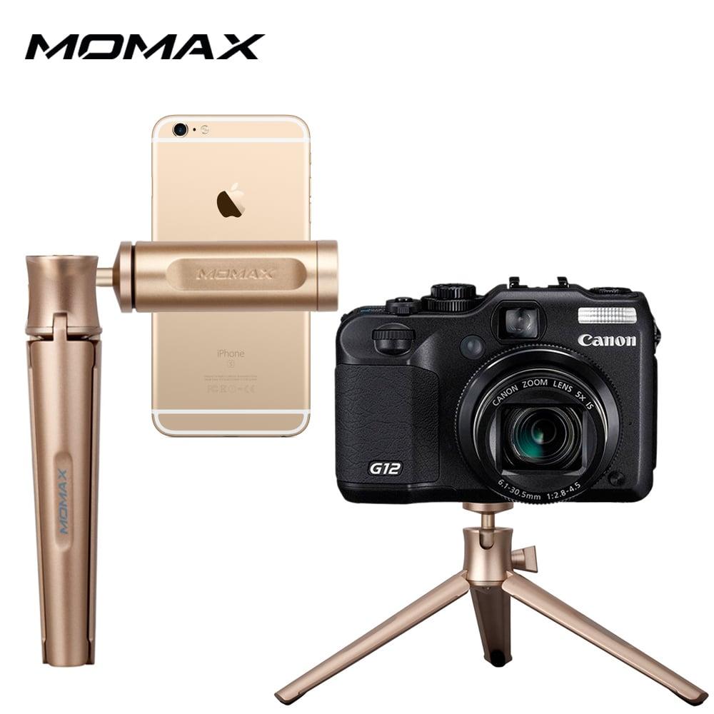 MOMAX TRIPOD PRO輕量鋁合金三腳架/360度球形雲台/支援手機、相機-金色