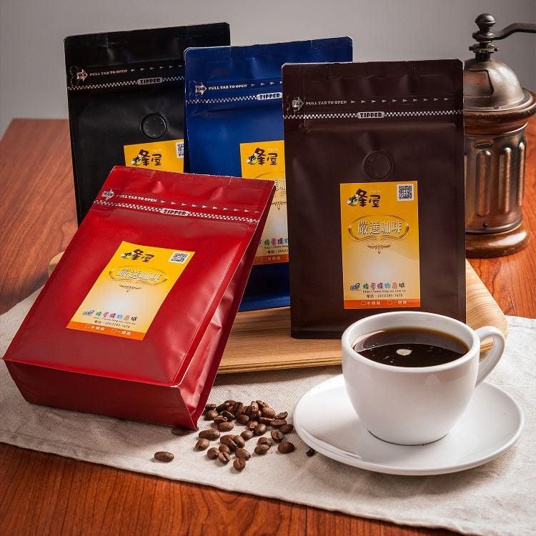 《蜂屋》【典藏幸福】優質咖啡豆,環保裸裝量販包(20入)