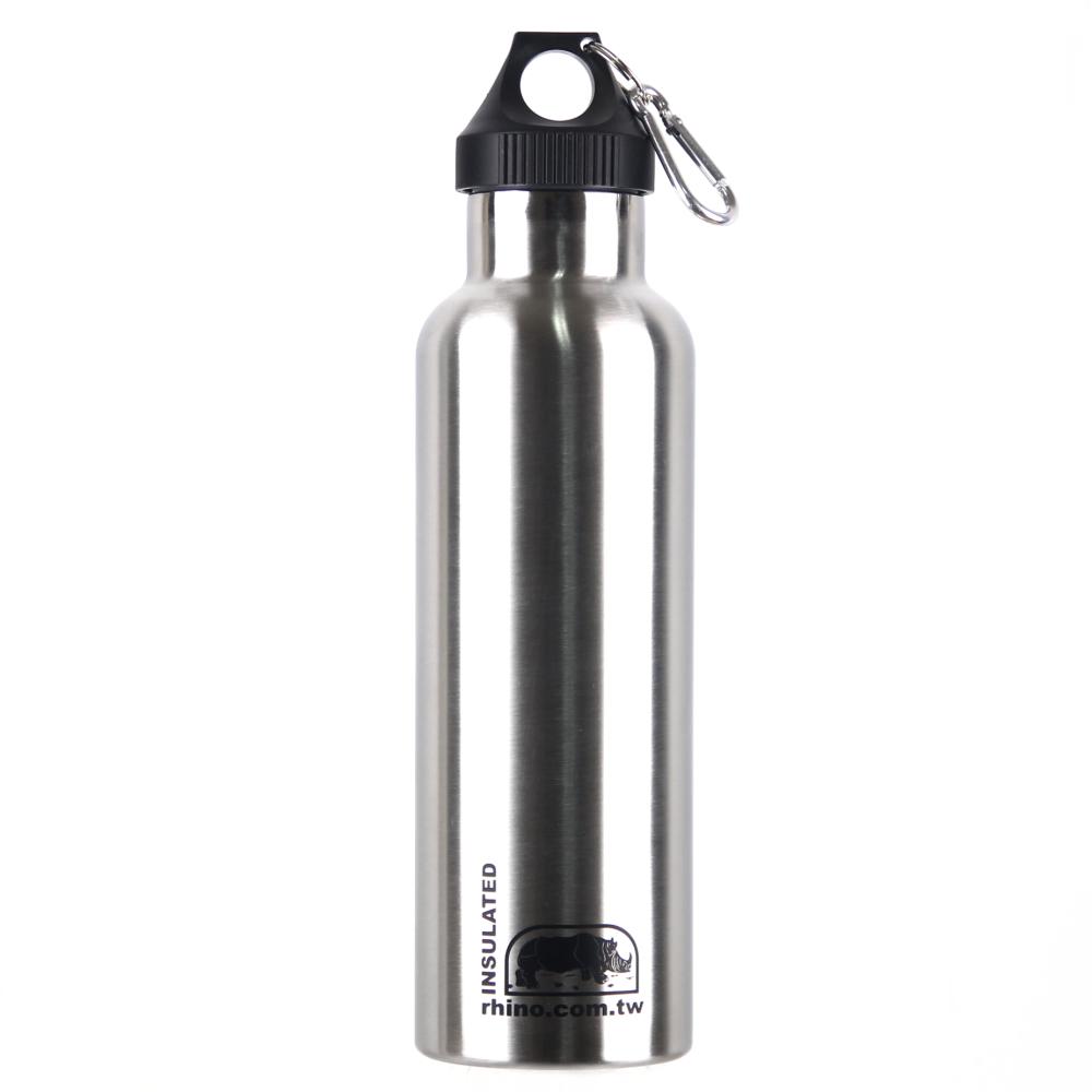 犀牛RHINO Vacuum Bottle雙層不銹鋼保溫水壺750ml-原色