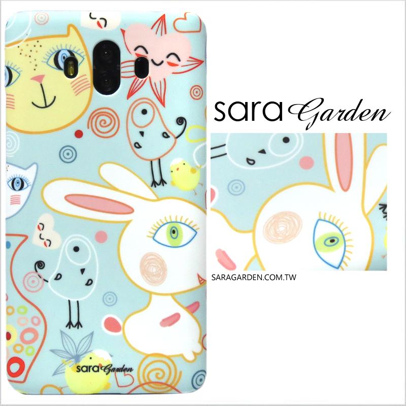 【Sara Garden】客製化 手機殼 Samsung 三星 S10e 手繪兔兔貓咪插畫 手工 保護殼 硬殼