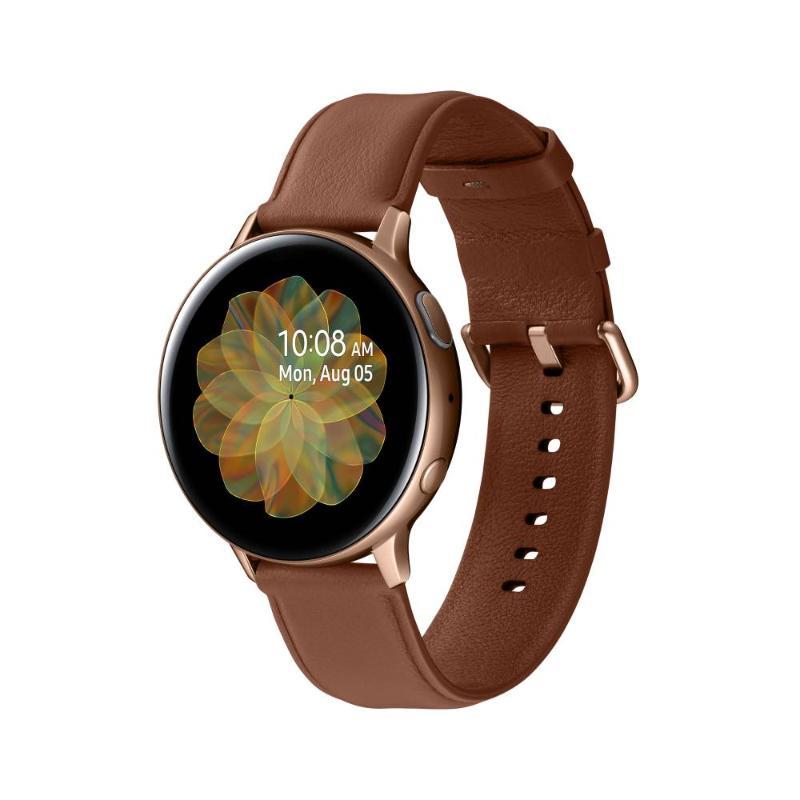 SAMSUNG Galaxy Watch Active2 GPS藍牙智慧手錶 不鏽鋼 44mm香檳金 R820