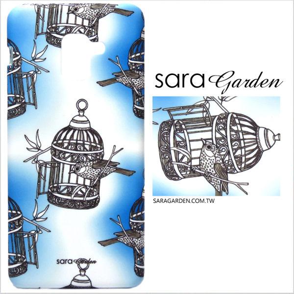 【Sara Garden】客製化 手機殼 HTC 10 Pro 手工 保護殼 硬殼 手繪漸層鳥