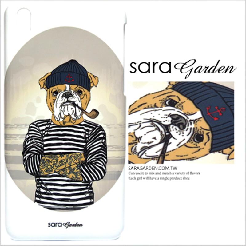 【Sara Garden】客製化 手機殼 Samsung 三星 A7 2017 手繪 潮流 刺青 沙皮狗 手工 保護殼 硬殼