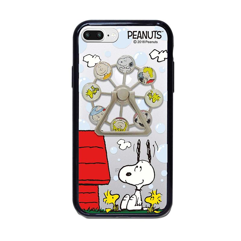 【正版授權】SNOOPY iPhone7 Plus/8 Plus 5.5吋 摩天輪支架 精緻防摔保護殼_紅屋