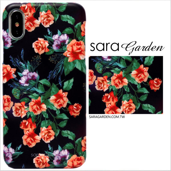【Sara Garden】客製化 手機殼 蘋果 iphoneX iphone x 質感玫瑰花 手工 保護殼 硬殼