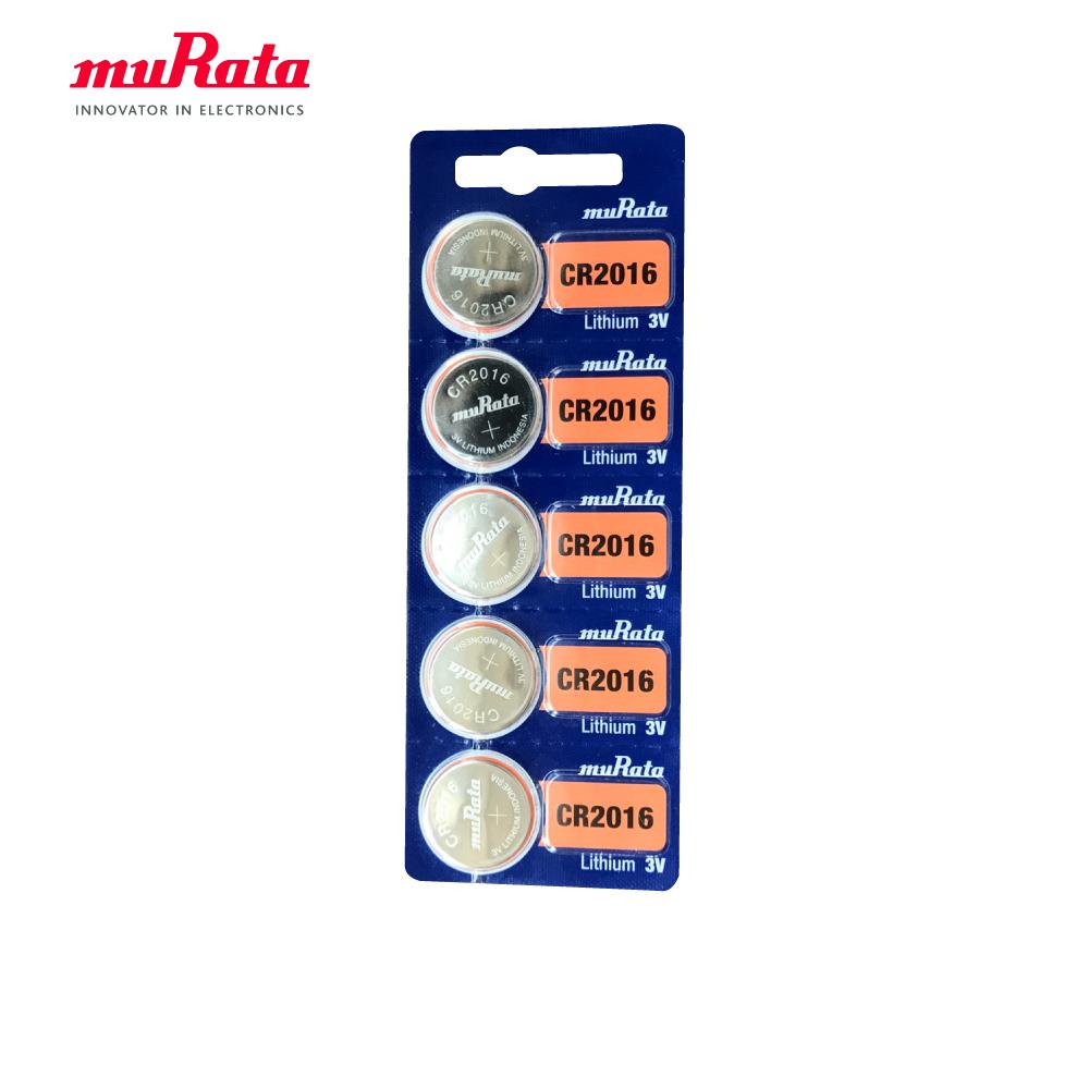 muRata 村田 CR2016 鈕扣型鋰電池5入/卡 台灣公司貨