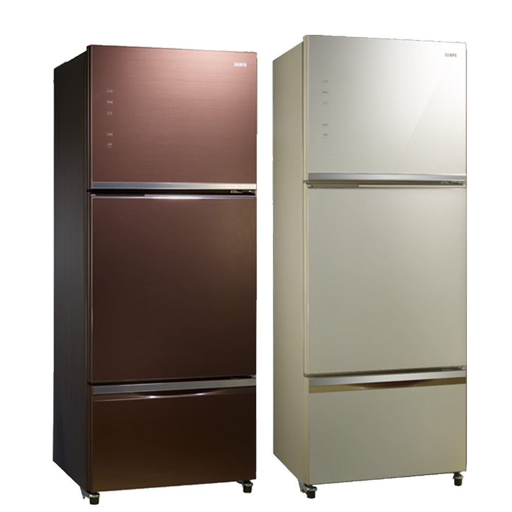 【SAMPO聲寶】530L 變頻3門電冰箱 SR-A53GDV(R7) 琉璃棕