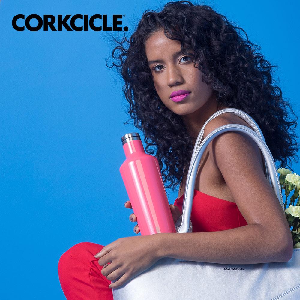 美國CORKCICLE Classic系列三層真空易口瓶/保溫瓶750ml-烈焰紅
