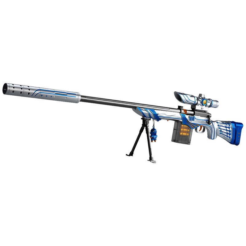 FJ 超仿真模擬槍戰安全軟彈槍 M24 藍色