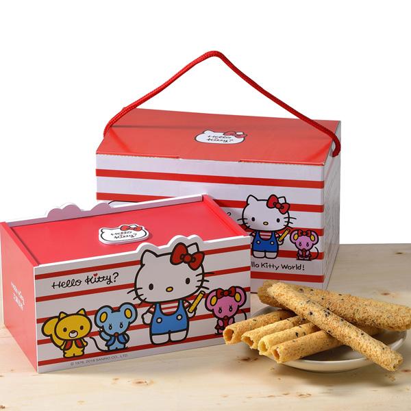 預購《Hello Kitty》芝麻蛋捲-麻吉禮盒(蛋素)