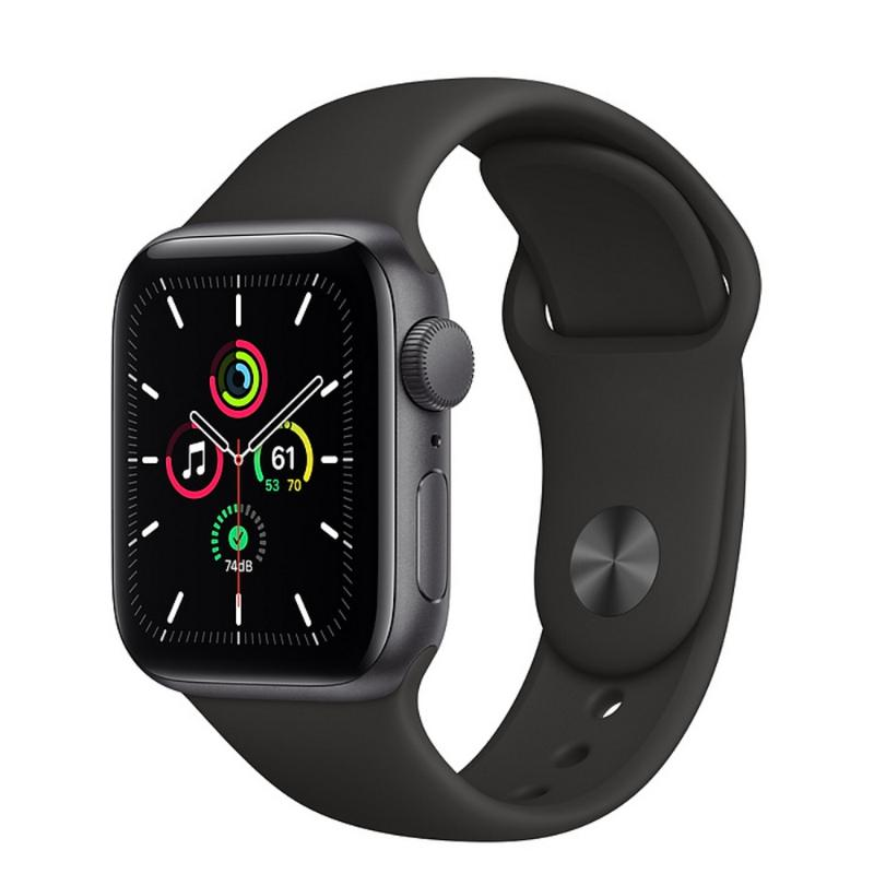 Apple Watch SE GPS 40mm 太空灰色鋁金屬-黑色運動型錶帶【新品上市 現貨賣場】