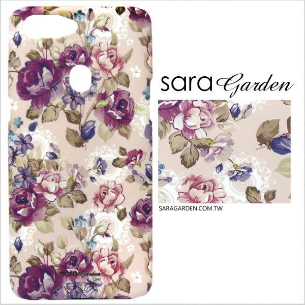 【Sara Garden】客製化 手機殼 蘋果 iphoneX iphone x 淡粉碎花蕾絲 手工 保護殼 硬殼
