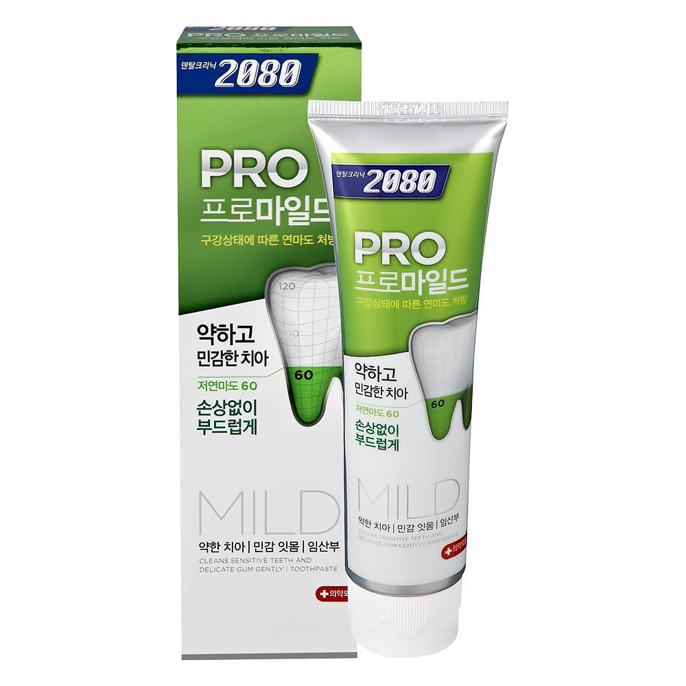 【韓國2080】專業亮白牙膏-溫和亮白-玫瑰薄荷125gX8入(盒損品)
