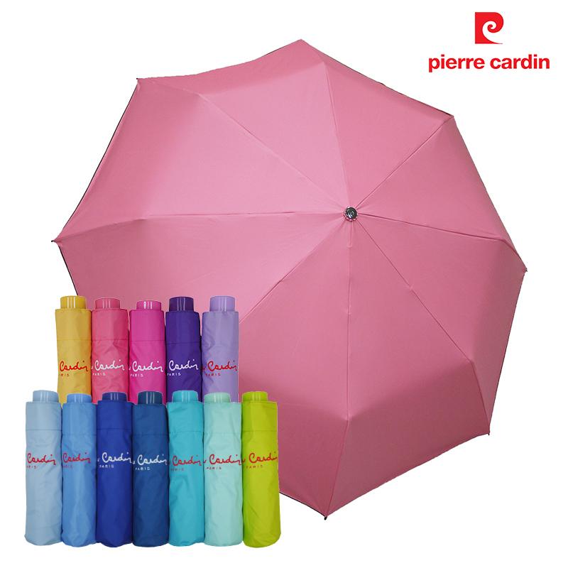【皮爾卡登】 三折黑膠無敵傘 -粉紅
