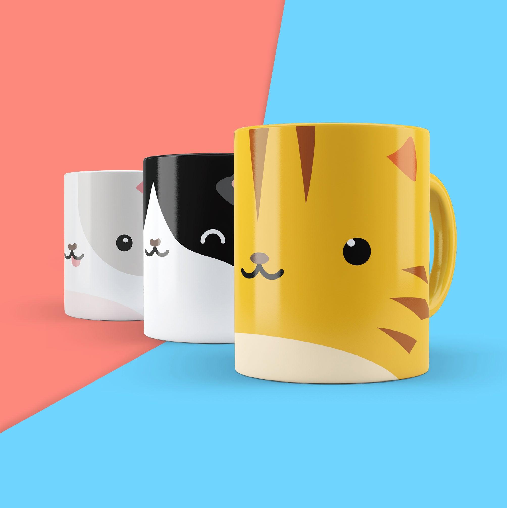 英國 Mustard 馬克杯貼紙 - 貓貓