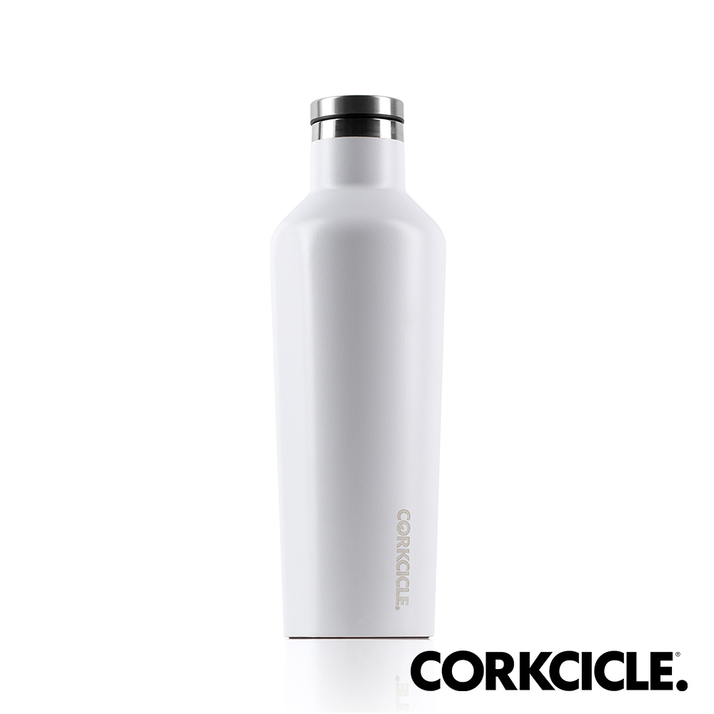 美國CORKCICLE Waterman系列三層真空易口瓶/保溫瓶470ml-消光白