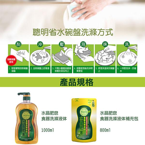 南僑 水晶肥皂食器洗碗精補充包800ml*8入/箱-商品簡介圖6
