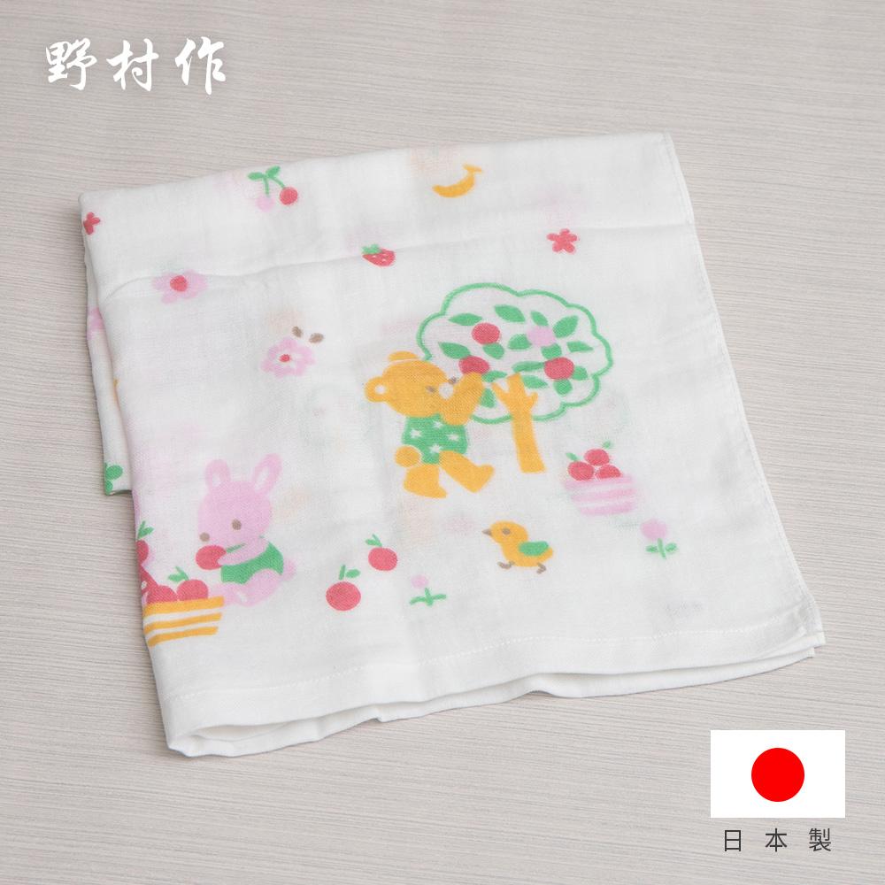 【日本野村作】Baby Gauze兒童棉紗浴巾-水果樂園