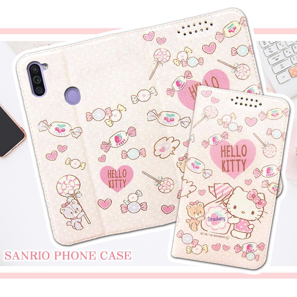 三麗鷗授權 Hello Kitty貓 三星 Samsung Galaxy M11 粉嫩系列彩繪磁力皮套(軟糖)