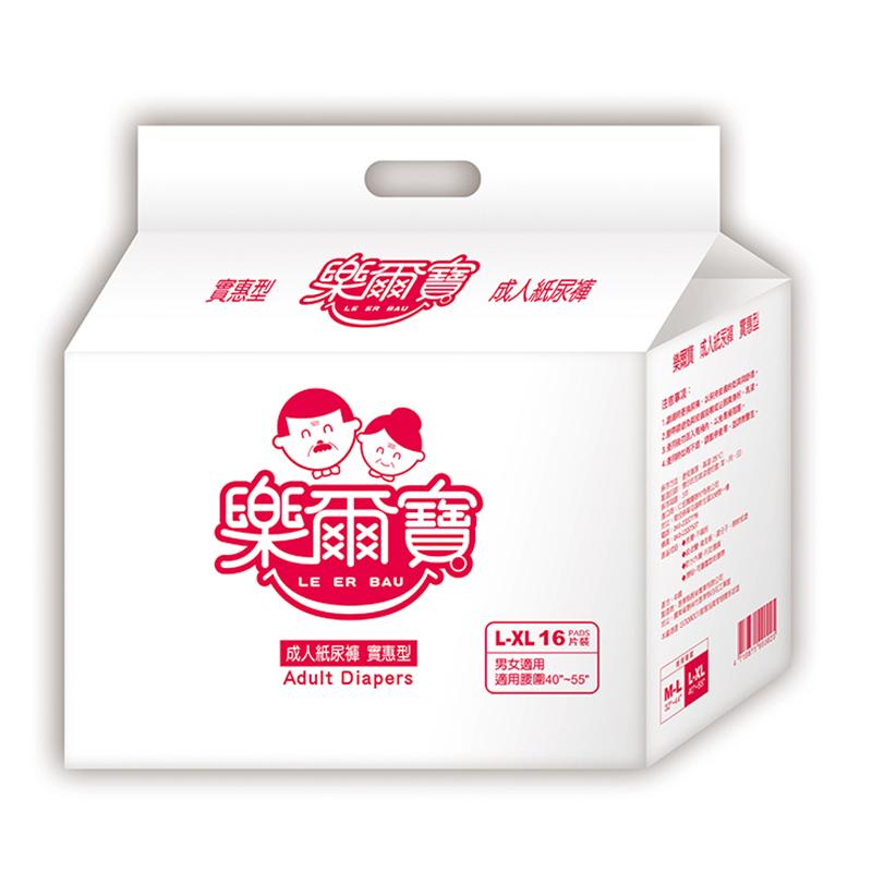 樂爾寶-成人紙尿褲 實惠型 L-XL號(16片 x 6包)