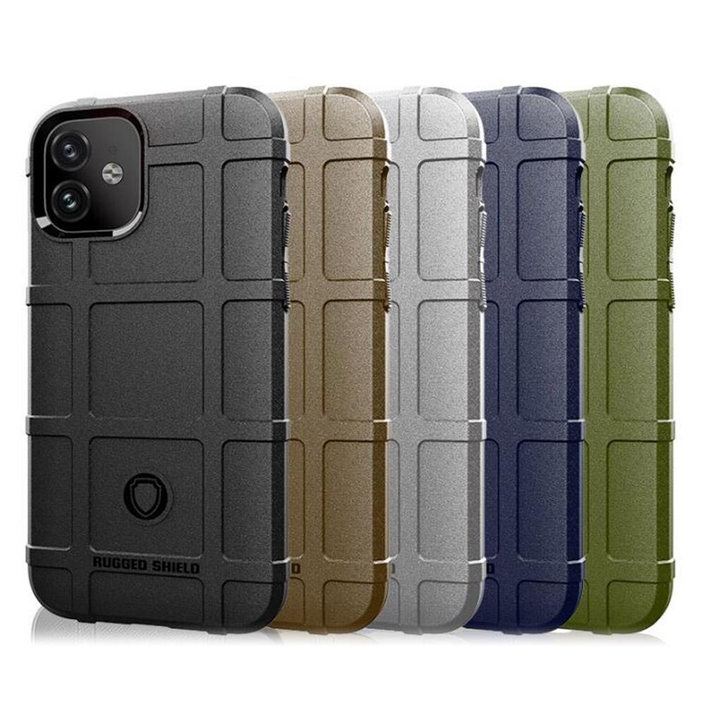 QinD Apple iPhone 11 6.1 戰術護盾保護套(藍色)