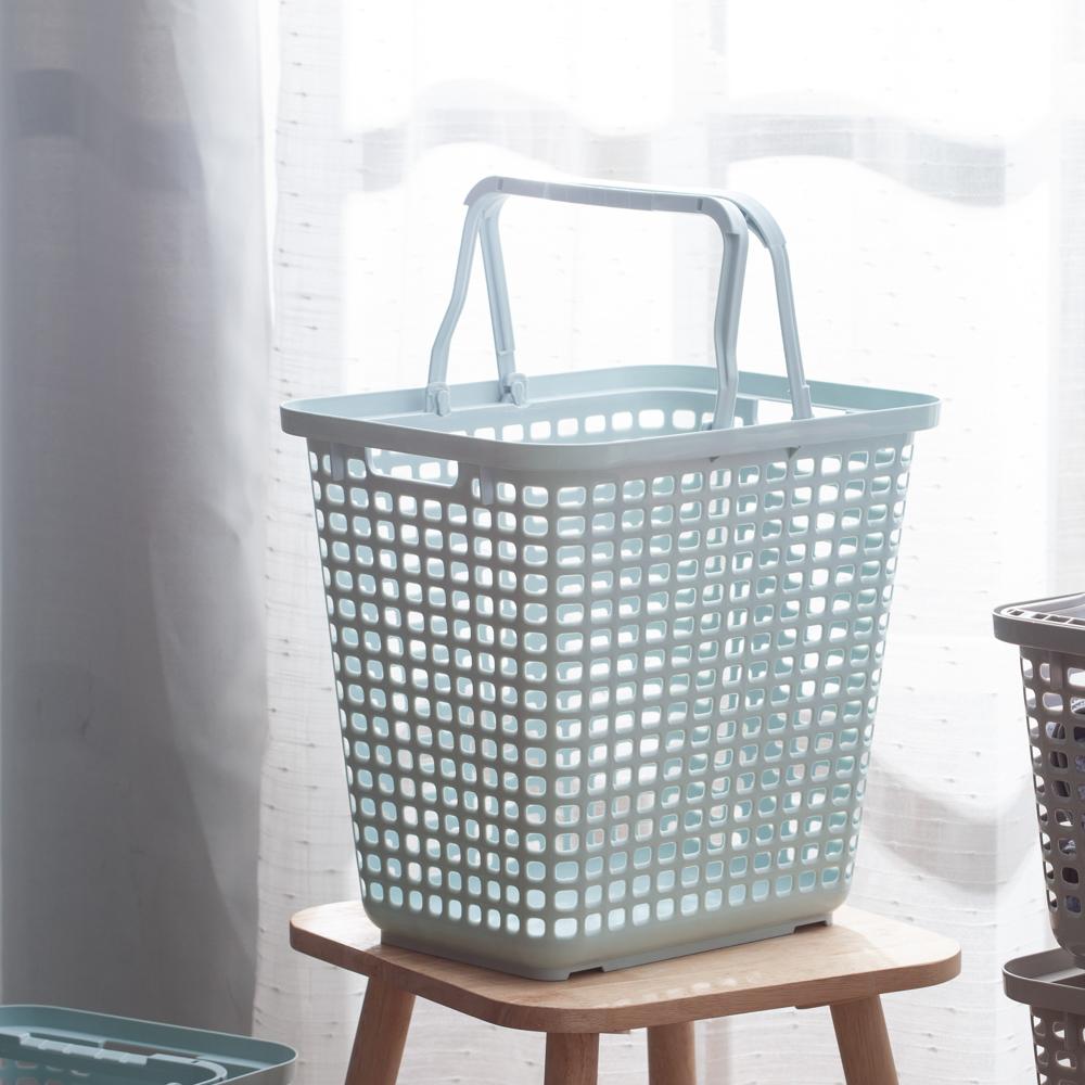 Clean多功能汙衣籃L-清新藍-生活工場