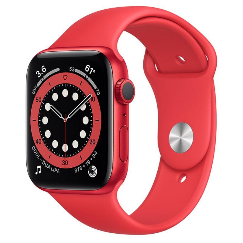 Apple Watch S6 GPS 44mm 紅色鋁金屬-紅色運動型錶帶【新品上市 現貨賣場】