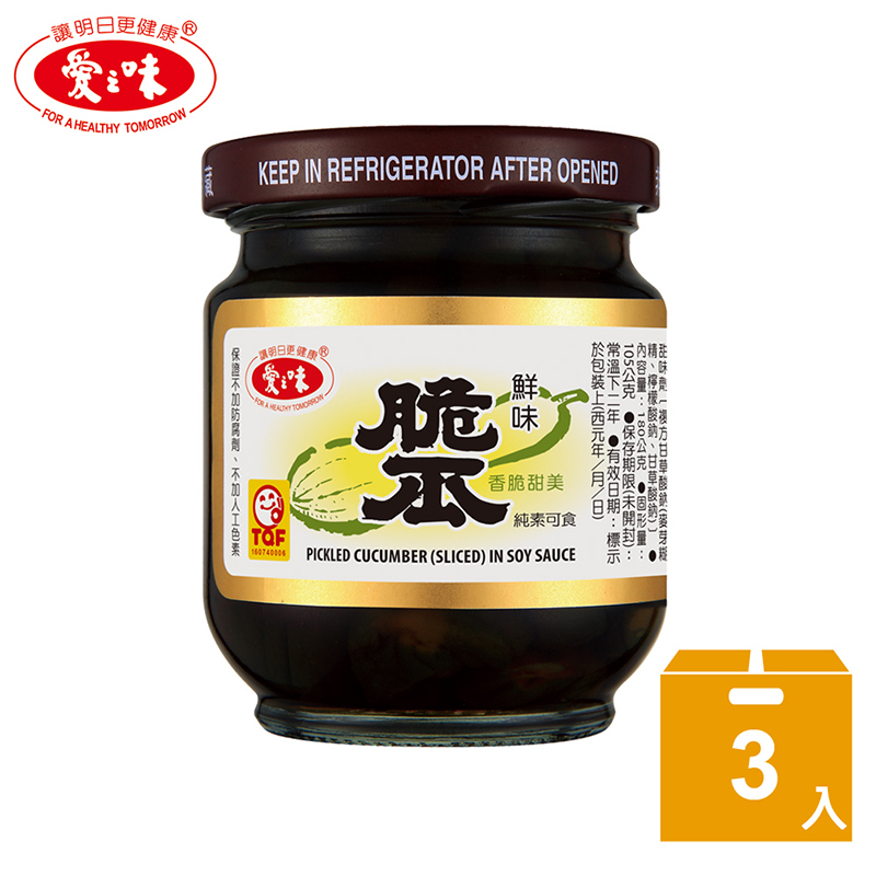【愛之味】鮮味脆瓜*3+土豆麵筋*3(6入組)