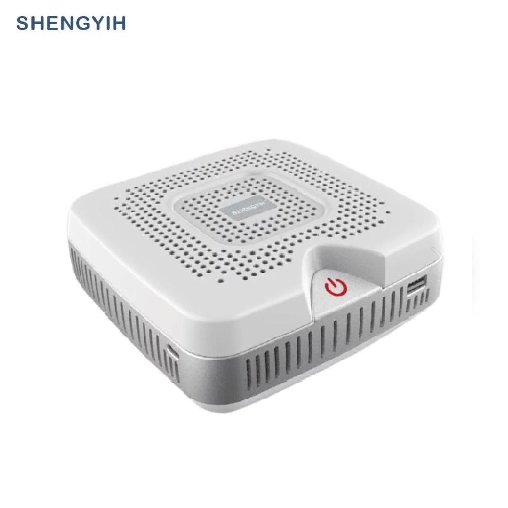 【SY 聲億】清淨方盒 晶鑽白APF01 車用&桌用空氣清淨機 100%台灣製造 加贈3.1A雙USB車充+車窗擊破器(二合一)