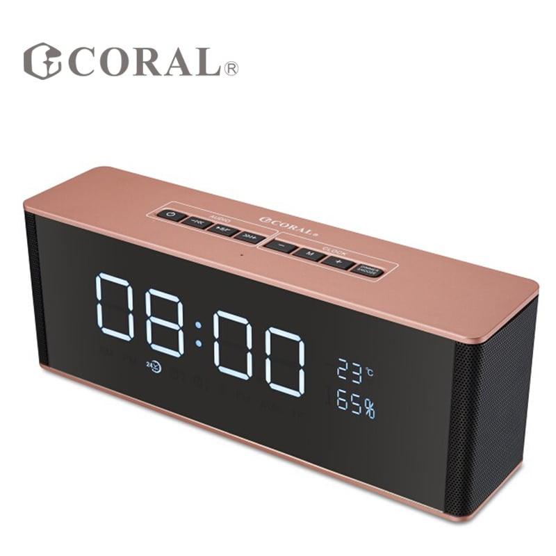 CORAL CBT-06藍芽時鐘喇叭 玫瑰金