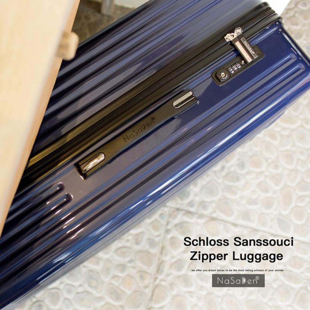 【德國品牌NaSaDen】新無憂系列26吋超輕亮面珠光行李箱(TSA海關鎖行李箱/格倫藍)