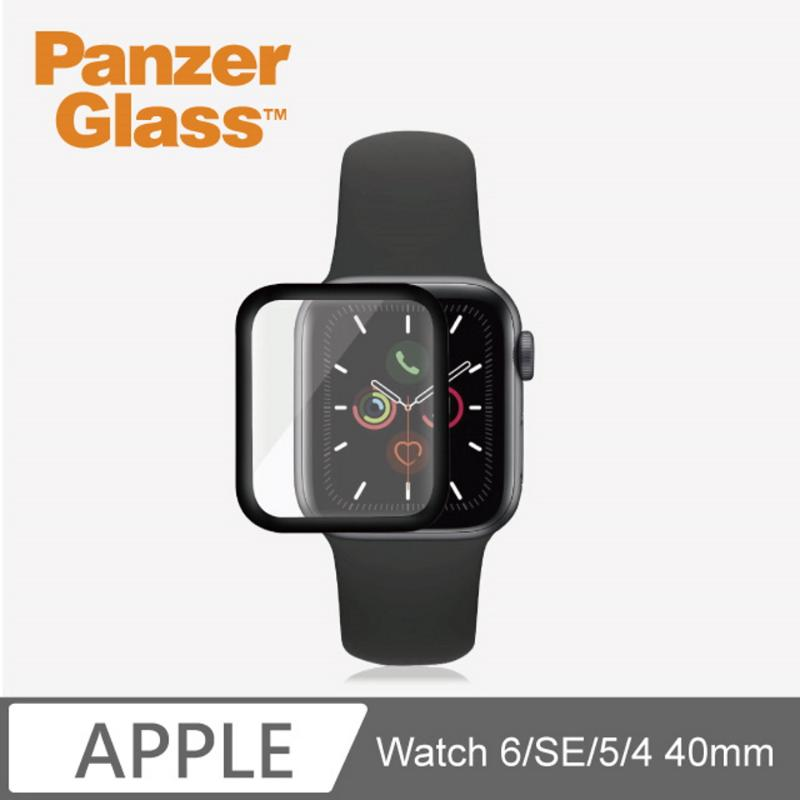 PG 2 IN 1 高透鋼化漾玻保護殼 (Apple Watch 4/5/6/SE 40mm) 黑