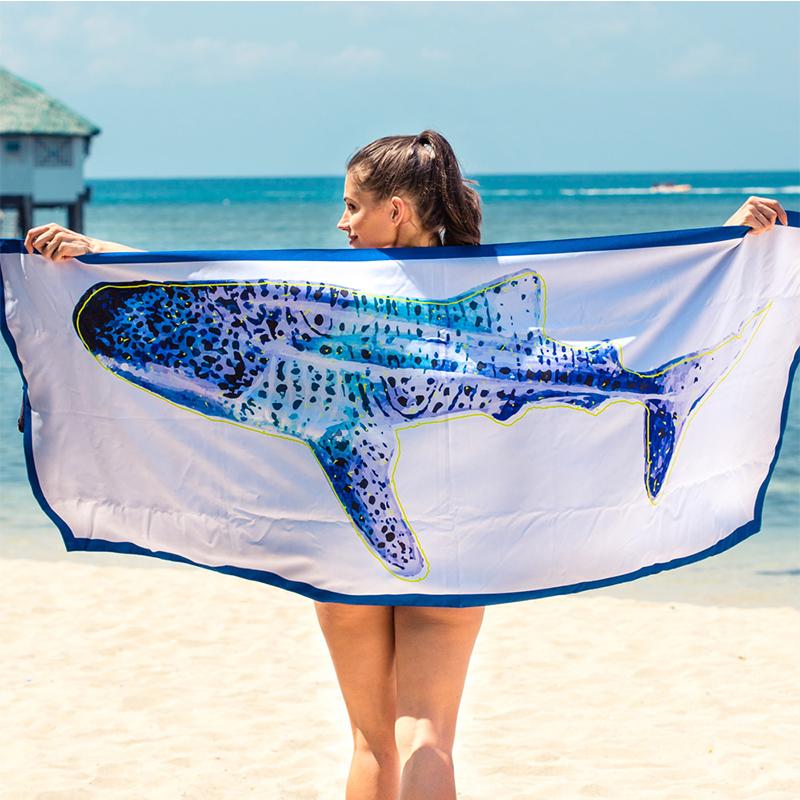 【Lagu】快乾防沙毯 沙灘巾 -鯨鯊