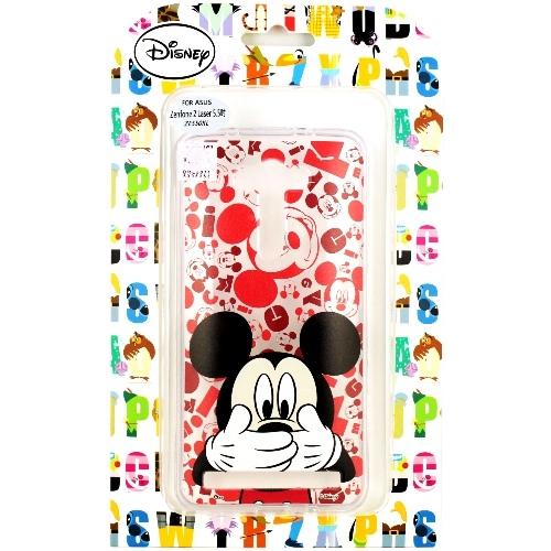 【Disney】ASUS ZenFone 2 Laser 5.5吋(ZE550KL) 摀嘴系列 彩繪透明保護軟套(米奇)
