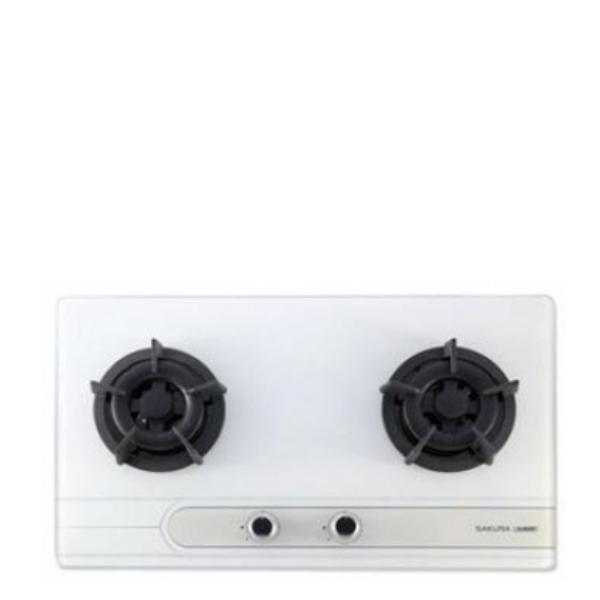 (全省安裝)櫻花雙口檯面爐(與G-2522GW同款)瓦斯爐桶裝瓦斯G-2522GWL