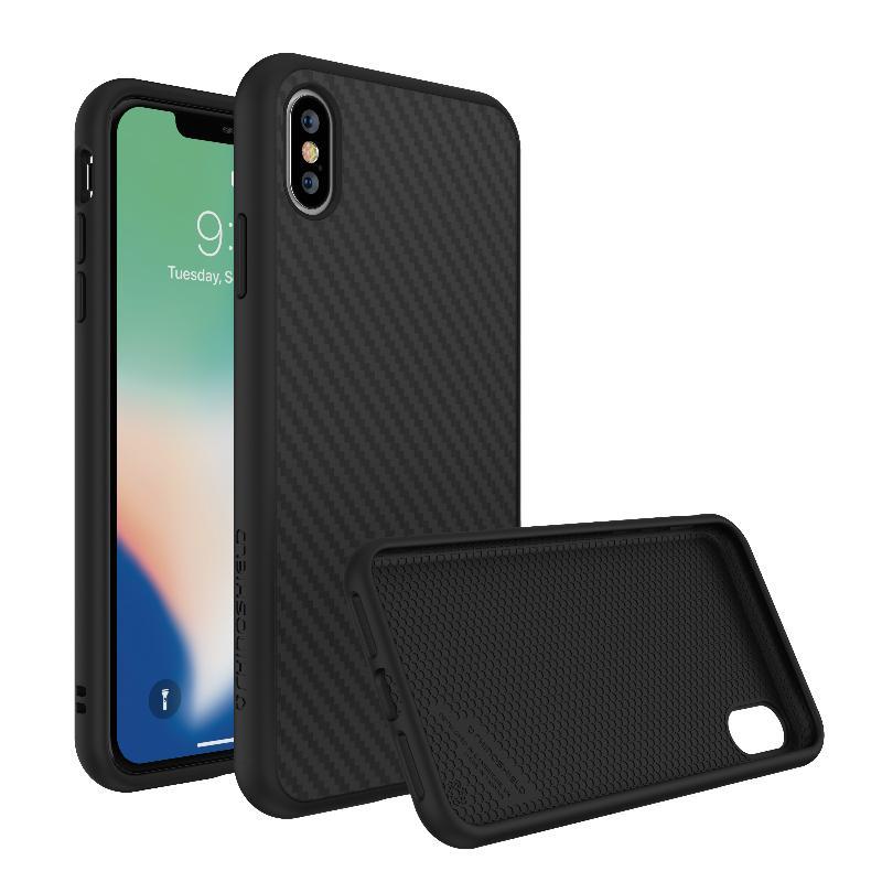 犀牛盾 SolidSuit防摔背蓋手機殼 iPhoneXs Max黑碳纖