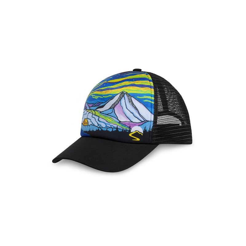【美國 Sunday Afternoons】抗UV透氣手繪感卡車帽 極光 Northwest