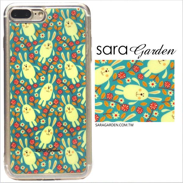 【Sara Garden】客製化 軟殼 蘋果 iPhone7 iphone8 i7 i8 4.7吋 手機殼 保護套 全包邊 掛繩孔 碎花兔兔