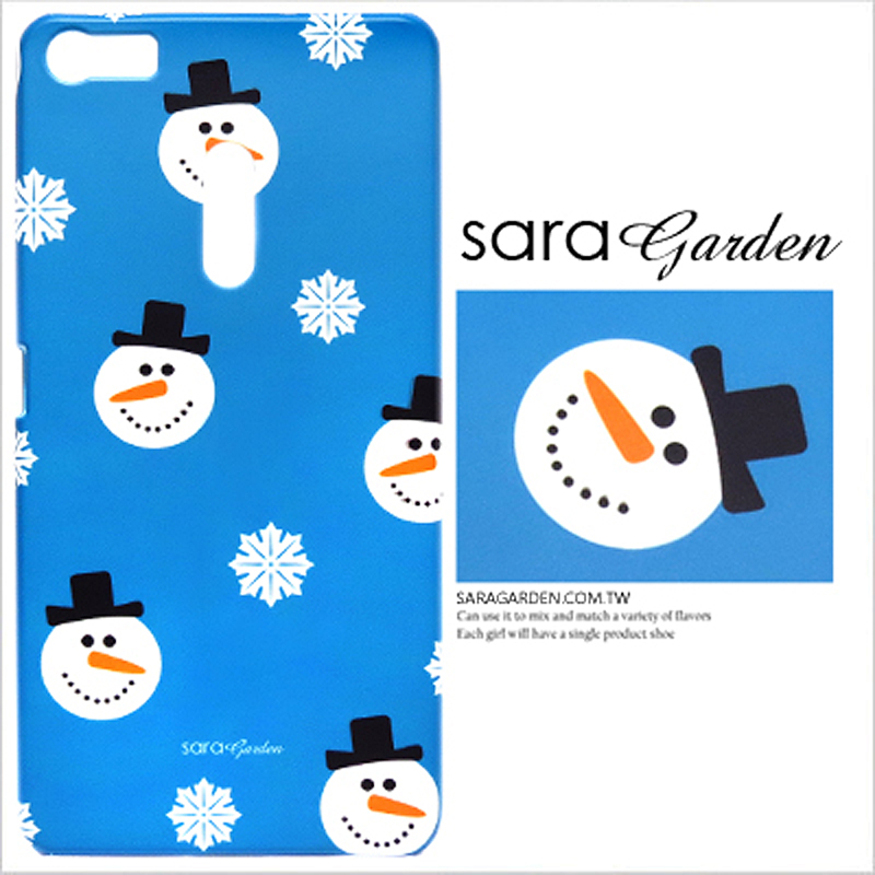 【Sara Garden】客製化 手機殼 SONY XZ2 手繪雪花雪人 保護殼 硬殼