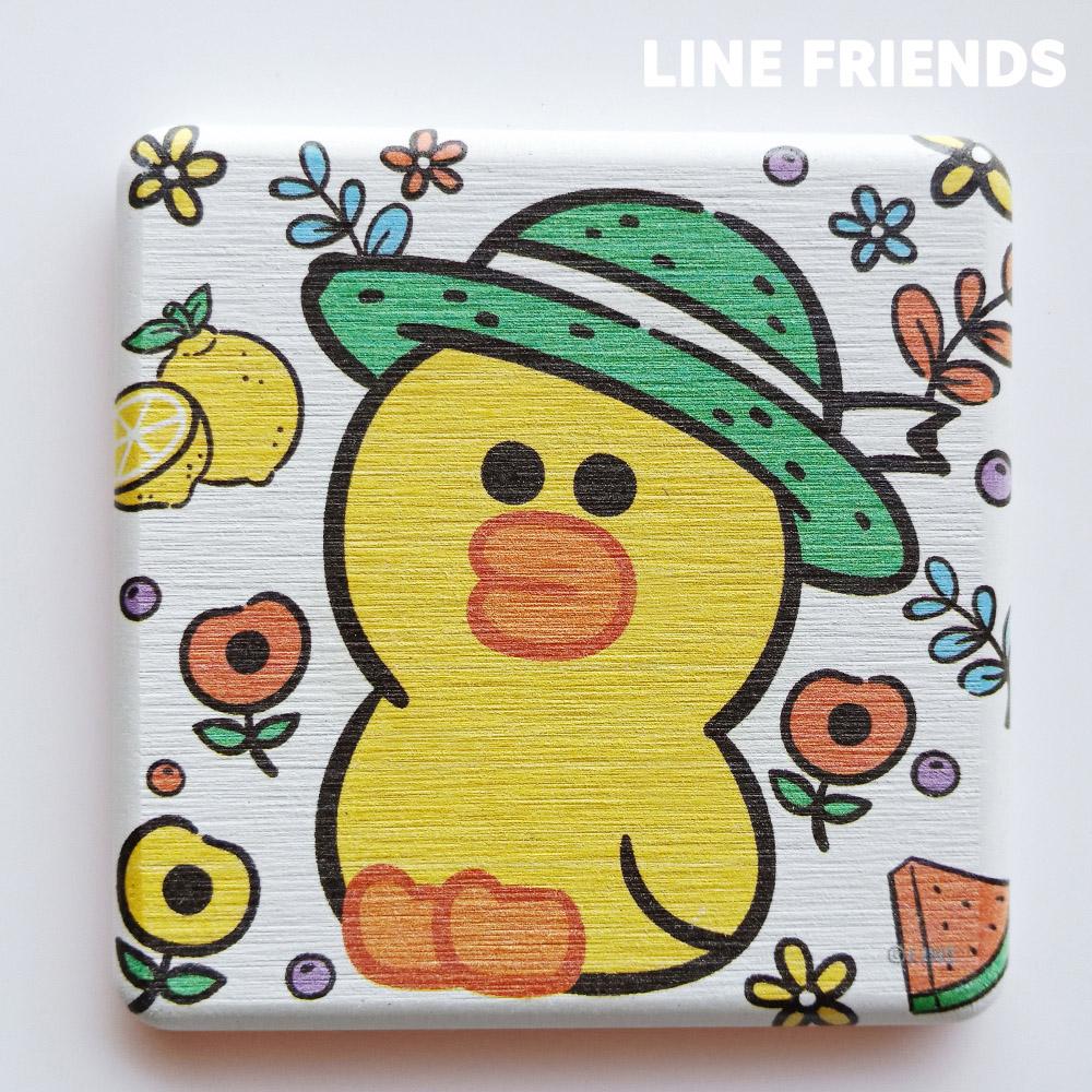 【LINE FRIENDS】手繪款 珪藻土杯墊//花園莎莉