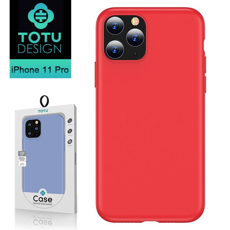 【TOTU台灣官方】iPhone11Pro手機殼防摔殼耐髒汙 i11Pro (5.8) 出彩超薄系列 紅色