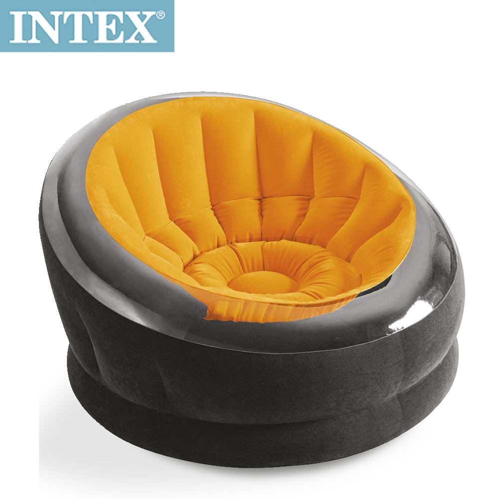 INTEX《星球椅》充氣沙發椅/單人座沙發/懶骨頭-桔色(68582)