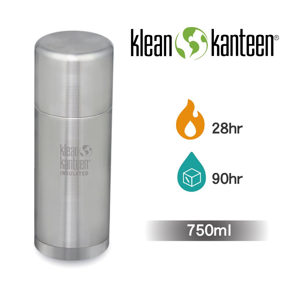 【美國Klean Kanteen】TKPro不鏽鋼保溫瓶-750ml-原色鋼