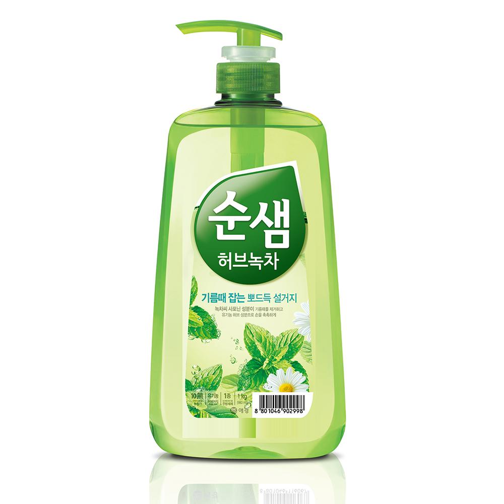 【韓國AK】全植物草本甘菊綠茶洗潔液 1KGX3入
