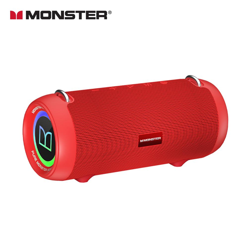 MONSTER 魔聲 BoomBox XS 真無線重低音防水藍牙喇叭-丹霞紅