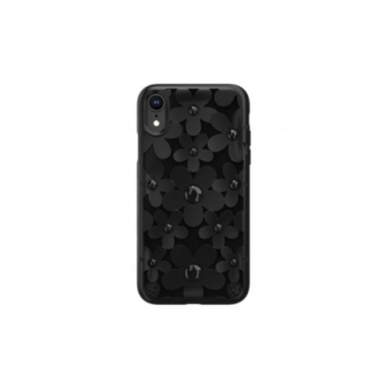 SwitchEasy iPhone XR 3D花朵吸震防摔保護套 黑