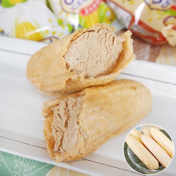 預購《老爸ㄟ廚房》古早味玉米冰淇淋 花生口味 (55g/支,共十支)
